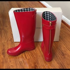 Banana Republic rain boots.